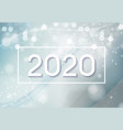 2020 abstract new year on background of vector image vector image