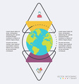 Abstract globe digital for Infographic Can be used vector image vector image