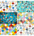 Abstract Square and Triangle Background vector image vector image