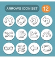 Arrows symbols set vector image