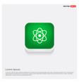 atom sign icon green web button vector image