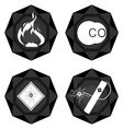 Badges coal industry 3 vector image vector image