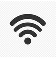 black wi fi icon on trasparent background wi fi vector image vector image