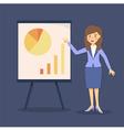 Blue Businesswoman Presentation Chart vector image vector image