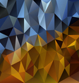 blue gold polygonal triangular pattern background vector image vector image