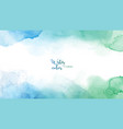 blue green abstract watercolor background vector image