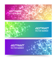 bokeh banner background design vector image vector image