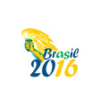 Brasil 2016 Summer Games Athlete Hand Flaming vector image vector image