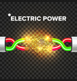 break electric cable electric arc power vector image vector image