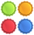 Bright icons of orange blue red and green with vector image vector image