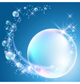 Bubbles and stars vector image vector image