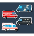 Bus service set vector image