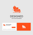 business logo template for delivery time shipping vector image