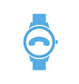 call concept end smart technology smartwatch vector image