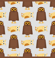 cartoon owl bird cute character sleep sweet owlet vector image
