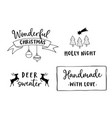Christmas and new year lettering set hand