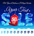 Christmas Sale Discount vector image vector image