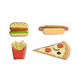 clip art fast food vector image