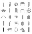 coil icon set outline style vector image vector image