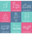 Collection of doodles toys vector image vector image