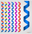 colorful ribbon collection isolated on white vector image vector image