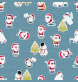 cute flat style christmas character seamless vector image