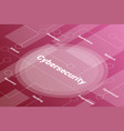 cynersecurity words isometric 3d word text vector image vector image