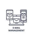 e-mail management line icon concept e-mail vector image vector image