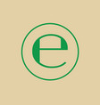 estimated sign e mark symbol icon vector image