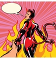 follow me girl devil demon leads to hell vector image vector image