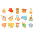 furniture icon set cartoon style vector image