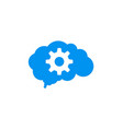 gear cloud technology logo vector image vector image