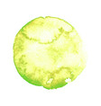 green watercolor stain vector image vector image