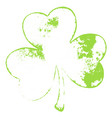 grunge isolated shamrock vector image vector image