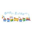 Happy birthday train vector image vector image