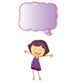 happy girl with speech bubble vector image vector image