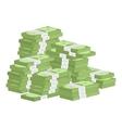 Heap of rolls money vector image vector image