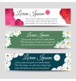 Horizontal banners template with flowers vector image