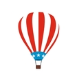 Hot air balloon with USA flag icon vector image vector image