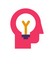 idea generation and brainstorming flat icon vector image vector image