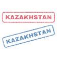 kazakhstan textile stamps vector image vector image