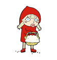 Little red riding hood comic cartoon vector image