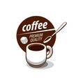 logo for coffee vector image vector image