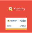 love letter logo design with business card vector image vector image