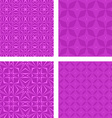 Magenta seamless pattern background set vector image vector image
