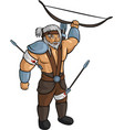 medieval self-wounded archer vector image vector image