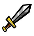 metal sword cartoon icon vector image vector image