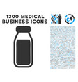 milk bottle icon with 1300 medical business icons vector image vector image