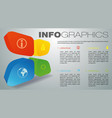 modern colorful infographics with 3d element vector image