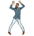 modern young man hipster dancing vector image vector image